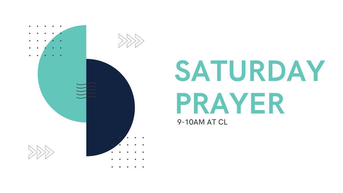 Saturday Prayer