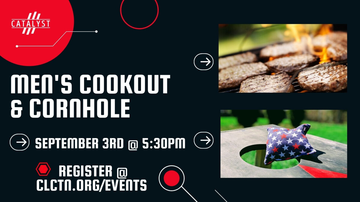 Men's Cookout and Corn Hole
